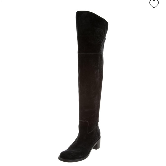48fa8e7a2 Gucci Shoes | Overtheknee Soho Suede Boots Suede 375 | Poshmark